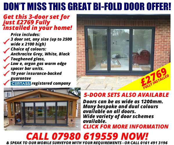 bi-fold-doors-ad1  sc 1 th 205 & Eiger Doors - UPVC and Composite Doors Manchester Cheshire